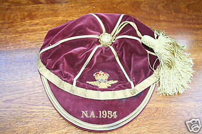 RAF Royal Air Force Cap 1954