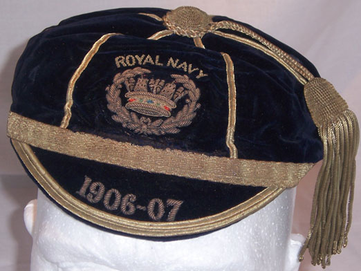 Royal Navy Rugby Cap 1906-07