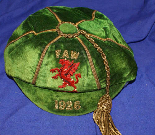 Classic Wales International Football Cap 1926