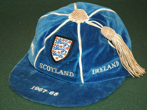 England Home Nations Cap 1967-68