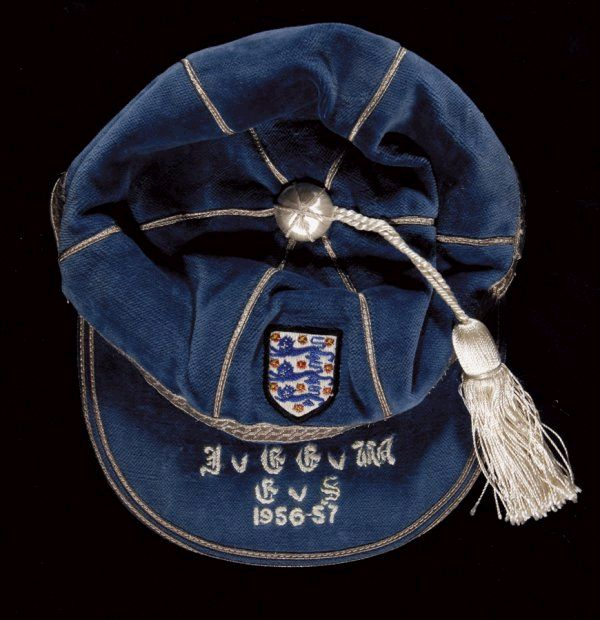 Sir Stanley Matthews' England Home Nations Cap 1956-57
