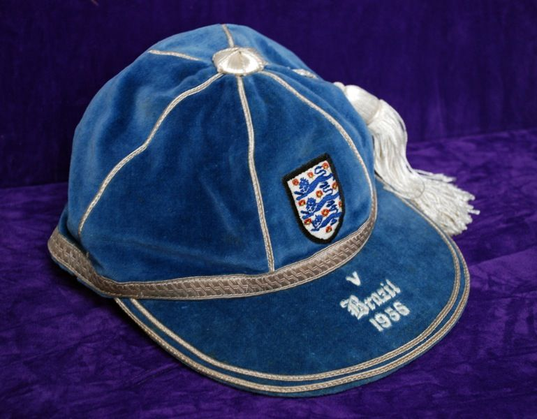Duncan Edwards' England International Football Cap v Brazil 1956
