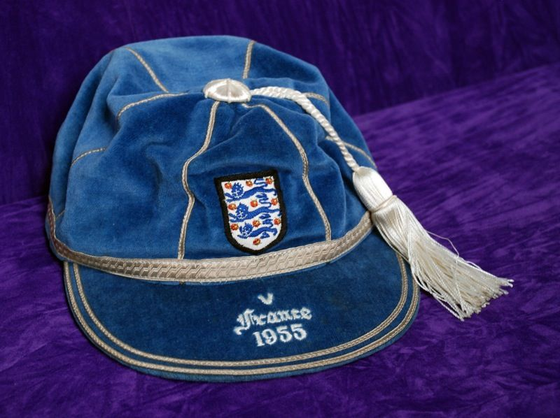 Duncan Edwards' England International Football Cap v France 1955
