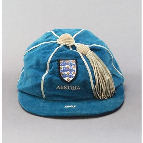 Allan Mullery's England International Football Cap v Austria 1967