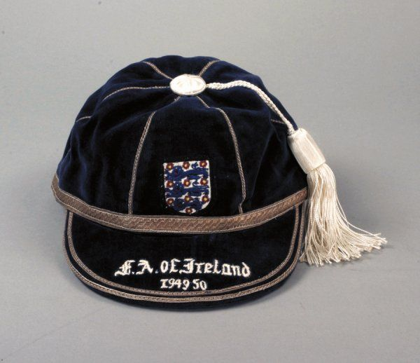 Jesse Pye's England International Football Cap v Republic of Ireland 1949-50
