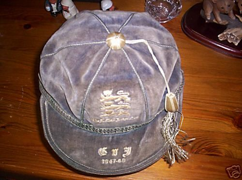 England International Football Cap v France 1947