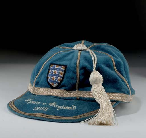 Ray Wilson's England International Football Cap v Spain 1965