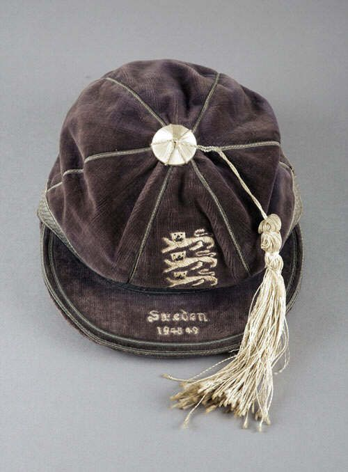Stan Mortensen's England International Football Cap v Sweden 1948
