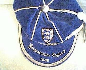 Ray Wilson's England International Football Cap v Yugoslavia 1965