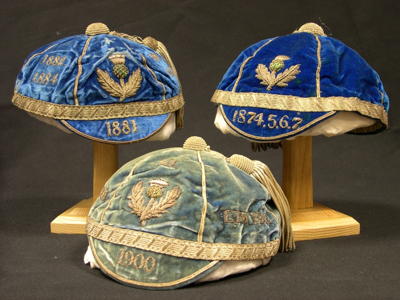 Scotland Rugby Caps 1874, 1881 & 1900