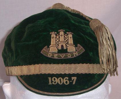 Devon Rugby Cap 1906-7