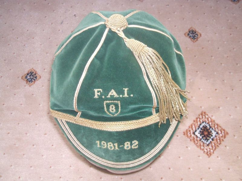 Gerry Daley's Republic of Ireland Football Cap 1981-82