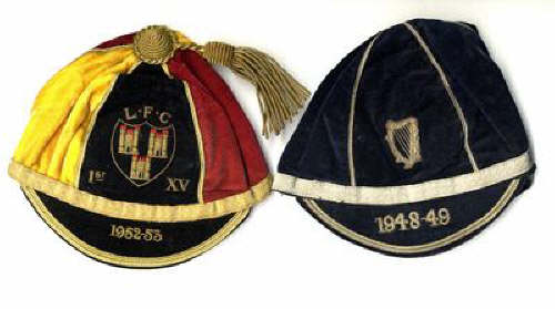 Leinster Rugby Cap and Ulster Rugby Cap 1947