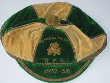 London Irish Rugby Cap 1937