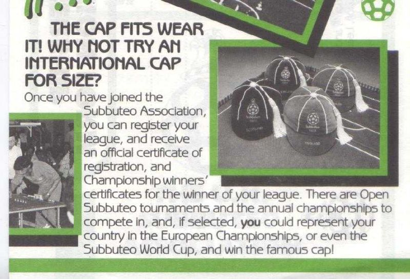 Subbuteo International Caps