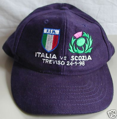 Italy Rugby Cap v Scotland 1998