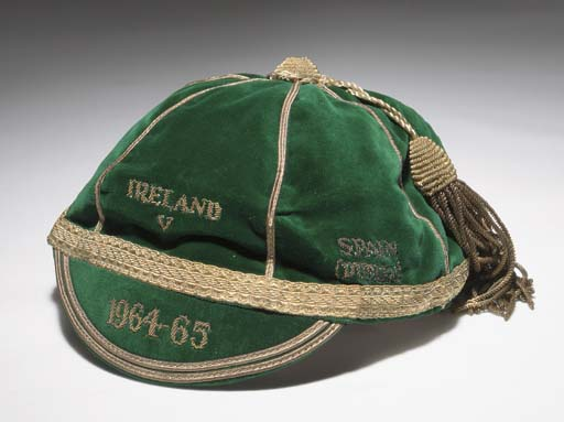Noel Cantwell's Republic of Ireland football cap v Poland & Spain 1964-65