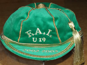 Republic of Ireland Under 19 International Football Cap
