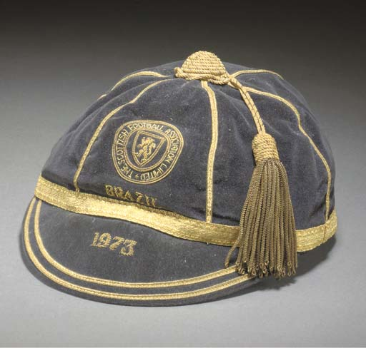 Willie Morgan's Scotland cap v Brazil 1973