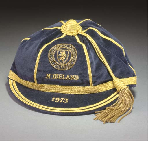 Willie Morgan's Scotland International cap v Northern Ireland