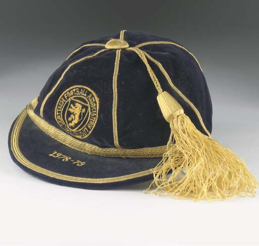 Arthur Graham's Scotland football cap season 1978-79