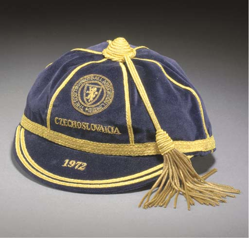 Willie Morgan's Scotland Football Cap v Czechoslovakia 1972