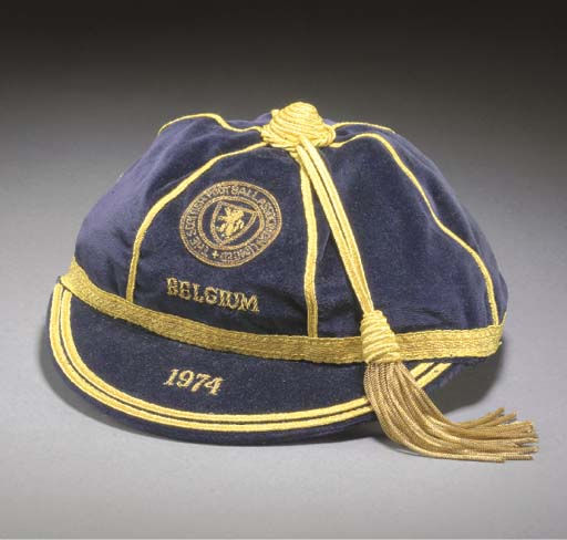 Willie Morgan's Scotland football cap v Belgium 1974