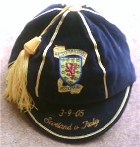 Scotland Football Cap v Italy 2005