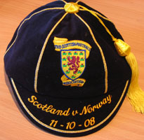 Scotland Football Cap v Norway 2008