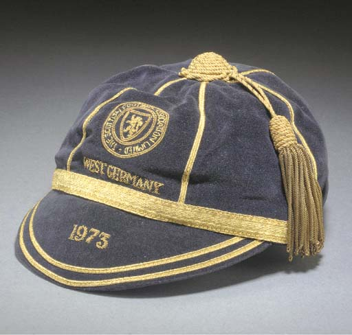 Willie Morgan's Scotland Football cap v West Germany 1973