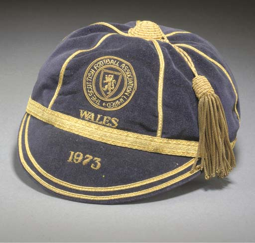 Willie Morgan's Scotland Football cap v Wales 1973