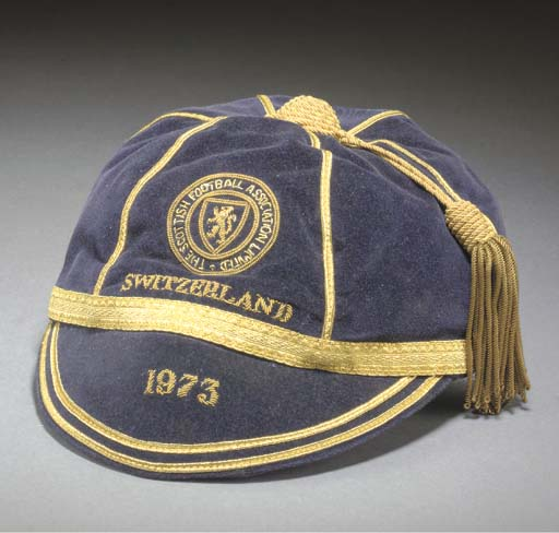 Willie Morgan's Scotland Football cap v Switzerland 1973