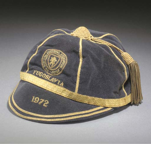 Willie Morgan's Scotland Football Cap v Yugoslavia 1972