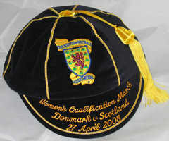Scotland Women's International Football Cap v Denmark 2008