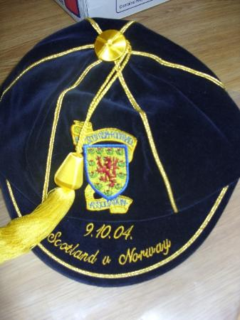 Scotland Football Cap v Norway 2004