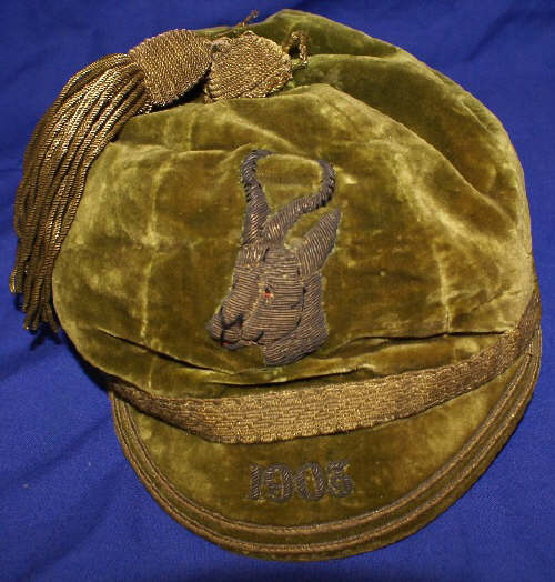 H.W. Paddy Carolin's South Africa Rugby Cap v British Isles 1903