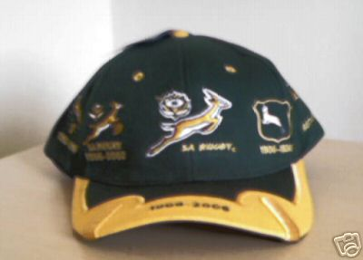 South African Springboks Centenary Rugby Cap 2006