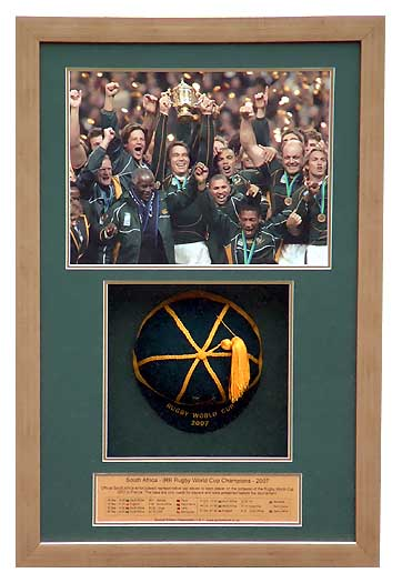 South Africa International Rugby Cap World Cup 2007