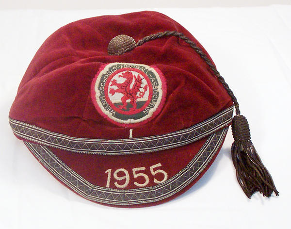 Alan Jones' Welsh Schoolboys Football Cap 1955