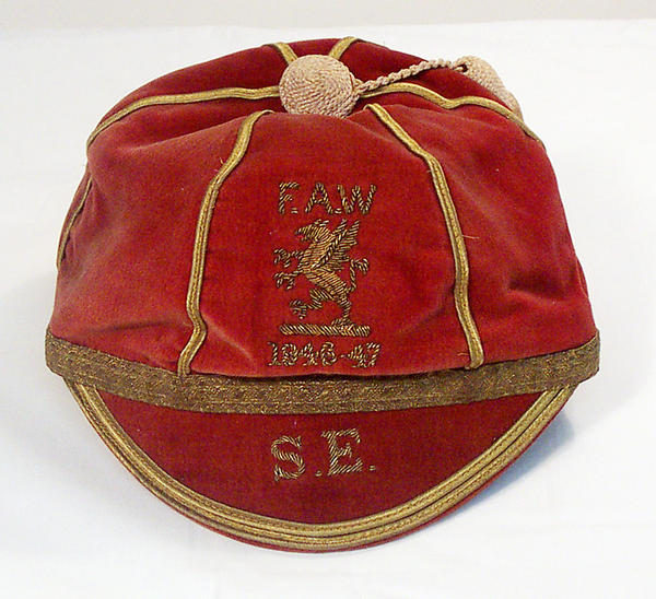 Ernie Jones' Wales Football Cap 1946-47 season