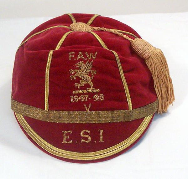 George Edwards' Wales Football Cap 1947-48 season