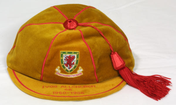 Ivor Allchurch's FAW Wales Golden Cap (68 caps) 1950-1966