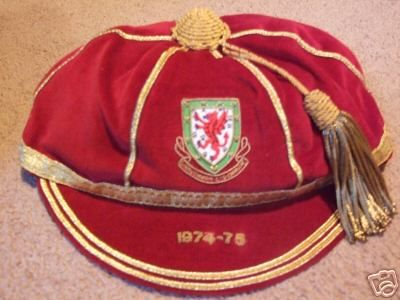 Malcolm Page's Wales International Football Cap 1974-75 season