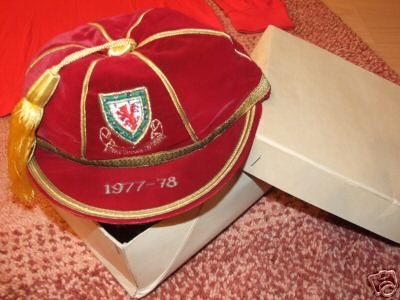 Wales International Football Cap 1976-77 season