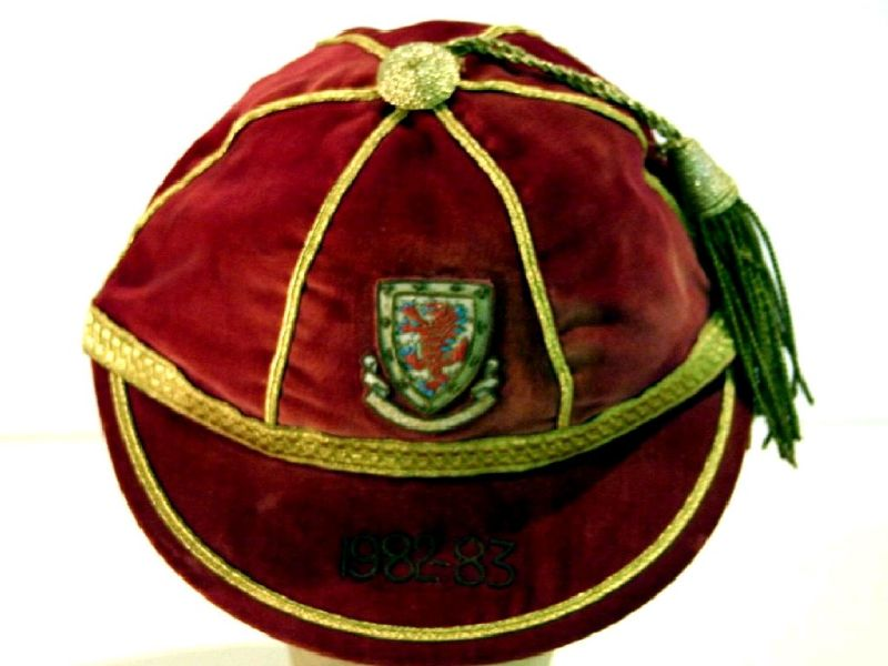 David Giles' Wales International Football Cap 1982-83 season