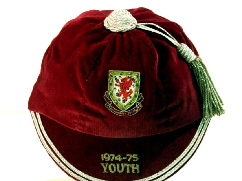 David Giles' Welsh Youth International Football Cap 1974-75