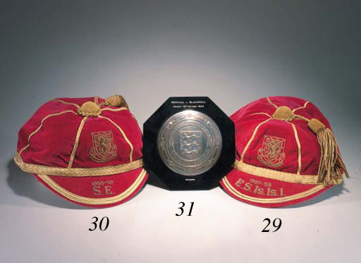 Jack Kelsey's Wales Football Caps 1957-58 & 1958-59