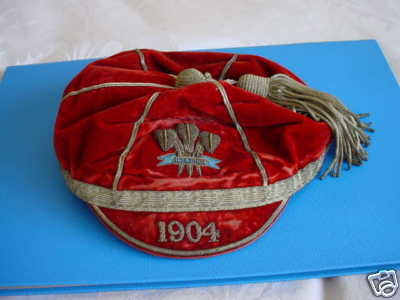 Clifford Charles Pritchard's 1904 Welsh International Rugby Cap