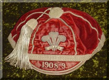 Wales International Rugby Cap 1908-9
