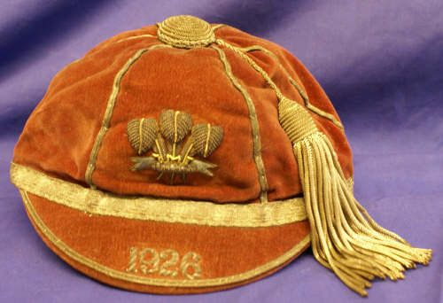 Wales International Rugby Cap 1926